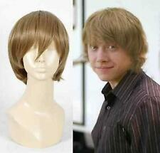 Harry Potter Ron Weasley Cosplay mens Short Brown Party full Wigs A55