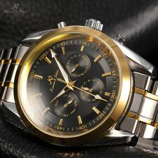 New Mens Luxury KS Automatic Mechanical Black Dial Date Day Military Sport Watch