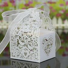 20 x Hollow Out Bird Candy Chocolate Box Wedding Party Favour Gift Bag White