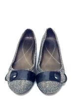 Womens Naturalize black and white tweed flats size 8.5 M