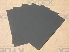5 PIECES KYDEX T SHEET 297 X 210 X 3MM A4 SIZE (P-1 HAIRCELL BLACK 52000)
