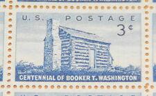 1956 stamp sheet, Booker T. Washington, Sc# 1074