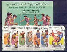 Fußball-WM 1986, Soccer - Kambodscha - 722-728, Bl.147 ** MNH