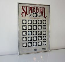 Official NFL SUPER BOWL SOLID SILVER Coins Packers Steelers Cowboys Giants Bears