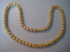 Bernsteinkette Baltic Amber Necklace Weiß-Gelb Beads Balls White-Yellow