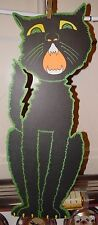 "Vintage Beistle Die Cut Halloween Decoration - Double-Sided 23"" Tall Black Cat"