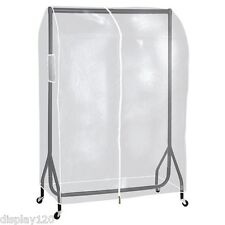 4ft Long Heavy Duty Clear Transparent PEVA Clothes Rail Protective Cover