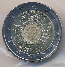 2 Euro Gedenkmünze 2012 Luxemburg EURO-Bargeld (Auflage nur 500 000 Stück)