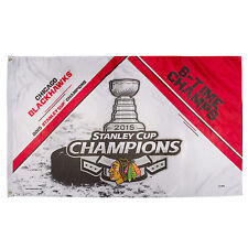 Chicago Blackhawks 2015 Stanley Cup Six Time Champions Flag 3' x 5' NHL Banner