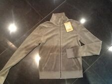 "NWT Juicy Couture New & Gen. Ladies Small Brown Towelling Jacket With ""J"" Pull"