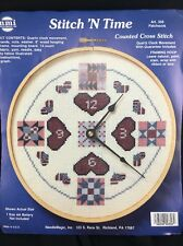Stitch N Time Patchwork Counted Cross Stitch AA Battery Clock Kit 356 NMI