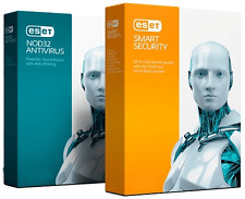 ESET Smart Security 9/NOD 32 ANTIVIRUS 2016 quasi 2 ANNO 2pc. non INGLESE DVD.