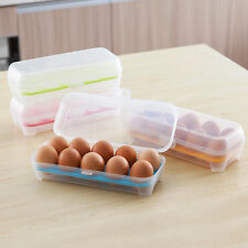 Egg Hot Box Storage Case Multicolor Holder 10PCS Eggs Fridge New Freezer Tray