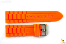 22mm Fits Fossil Orange Silicon Rubber Watch BAND Strap