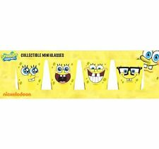 SPONGEBOB SQUAREPANTS Shot Glasses, Set of 4 Different Spongebob Faces!