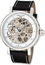 Mens Charles Hubert Stainless Steel Skeleton Handwind Watch