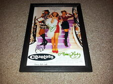 "CLUELESS CASTX3 PP SIGNED & FRAMED 12X8"" PHOTO POSTER ALICIA SILVERSTONE"