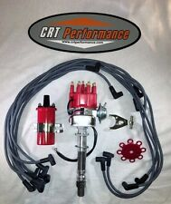 SB Chevy SBC Small Cap H.E.I Distributor Kit W/ Plug Wires & 45K Can Style Coil