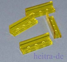 LEGO - 4 x Panel 1x4x1 transparent - gelb ( trans-yellow ) / 30413 NEUWARE