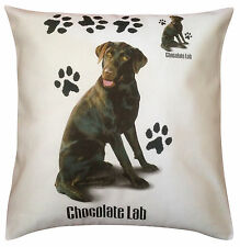 Labrador Chocolate Paws Breed of Dog Cotton Cushion Cover - Perfect Gift