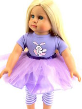 """Easter Bunny Tutu Dress Fits 18"""" American Girl Doll Clothes"""