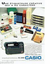PUBLICITE ADVERTISING 116  1992   Casio   etiquetteuse éléctronique KL 2000