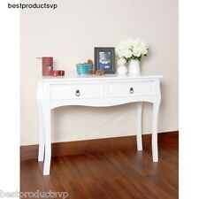 Console Table White Modern Wood Hall Entryway Entry With Drawers Sofa Wooden
