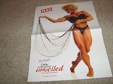 Bodybuilder Cathy LeFrancois +Jean Pierre Fux Bodybuilding Muscle Color Poster