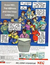Publicité Advertising 1992 Les ecrans d'ordinateur NEC