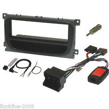 FK-316 FORD FORD FOCUS MK2 2005 to 2011 BLACK SINGLE DIN FASCIA & STALK KIT