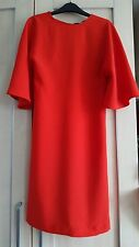 Zara Red Cape Sleeve Dress - Size XS