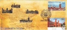INDIA 2009 Special Cover #SP-9 FDC RAILWAY STATIONS 2v