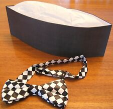 Old Fashion Black Soda Jerk Paper Hat and Cloth Bowtie * Theater * Costume
