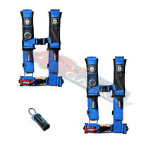 "Pro Armor 4 Point Harness 2"" Pads Seat Belt PAIR BLUE W/ BYPASS RZR XP1000 1KXP"