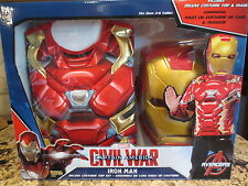 NEW Marvel Iron Man Civil War Deluxe Child's Costume Top Set with Mask- S (4-6)