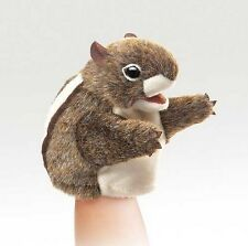 Folkmanis New Puppets Plush LITTLE CHIPMUNK Hand Puppet ~NEW~