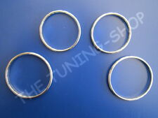 FOR FIAT 500 2007+ ALLOY RINGS MANUAL HEATER CONTROLS CHROME SURROUNDS SET OF 4