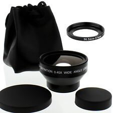 HD 30.5mm Wide Angle Lens w/Macro fo JVC Everio GZ-HD300 MC200 HD320 HM200 MC100