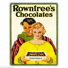METAL SIGN WALL PLAQUE ROWNTREE'S CHOCOLATES Retro Vintage poster Advert Kitchen