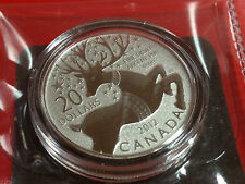 Canada 2012 $20 for $20 0.9999 pure Fine Silver Coin - Magical Reindeer