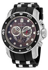 ILE6977ASYB Invicta 48mm Men Pro Diver Scuba Swiss Quartz Chrongraph Strap Watch