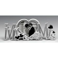 Mr & Mrs Letters Photo Frame in Silver Colour