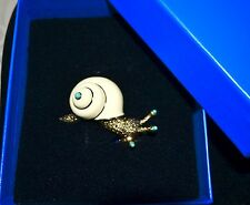 "NWT $90 HEIDI DAUS ""Dizzy Dazzler"" Snail Brooch Pin Swarovski Crystal SOLD OUT!"