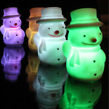 Lovely Color Changing Christmas Snowman LED Light Night Lamp Table For Children