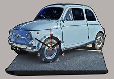 FIAT 500 -02, MINIATUR MODELLAUTOS in der Uhr