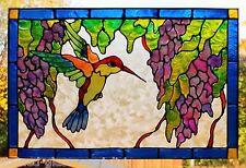 Colibrí Bird ventana se aferran Vitral efecto Puerta Vidrio Decoración calcomanía