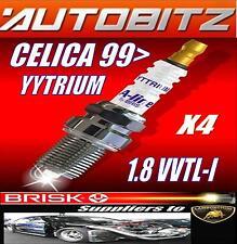 FITS TOYOTA CELICA VVT-I ,99  BRISK SPARK PLUGS X4 100K GUARANTEE