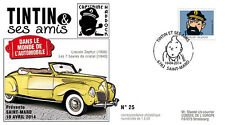 "FDC ""TINTIN et ses Amis - VOITURE / LINCOLN ZEPHYR - HADDOCK / KUIFJE"" 2014"