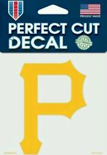 Pittsburgh Pirates Logo 4x4 Perfect Cut Car Decal New See Description