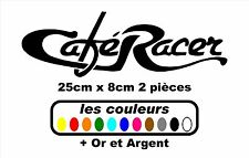 Stickers autocollant réservoir moto café racer / bobbers / chopper ( 2 pieces )